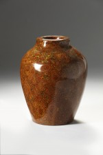 Mokume laquered vase by