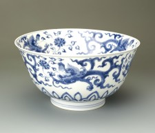 Kangxi bowl with dragon design