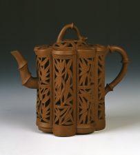 Openwork Yixing ware teapot