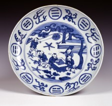 Wanli mark and period imperial dish