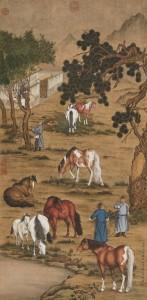 Lang Shining horses painting