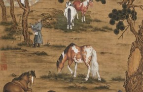 """Giuseppe Castiglione's """"Eight Horses"""" painting fetches HK$117 million at Hong Kong auction"""